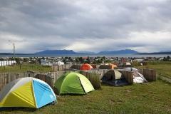 Kamperen met tent of camper op camping Güino in Puerto Natales