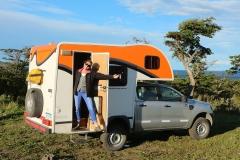Wildkamperen met de camper kan bijna overal in Patagonië