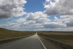 De wegen in Patagonië zijn nogal wisselend van kwaliteit