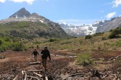 De wandeling naar Esmeralda Lagune leidt door Valle de Lobos